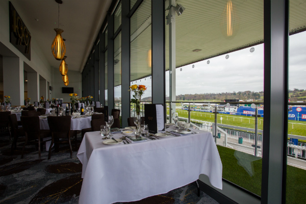View from the 1907 Suite at Uttoxeter Racecourse